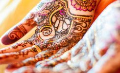 Deep, Intense Mehendi Color for a Radiant, Luminous Bride